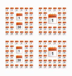 set of wall calendar vector image vector image