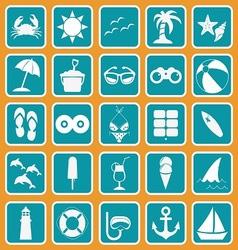 spring break icon set basic style vector image vector image