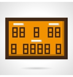Basketball scoreboard flat color icon vector image