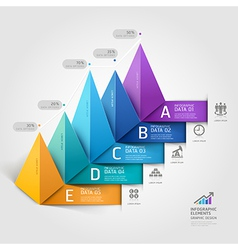 Business 3d triangle staircase diagram vector image vector image