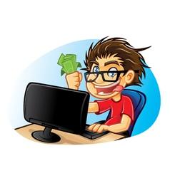 Crazy Geek vector image