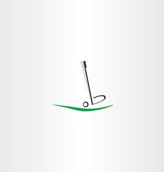 golf ball logo putter icon vector image