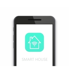 modern smart house icon with smartphone on vector image