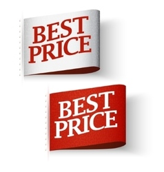 Price-tag Labels Best Price Message Set vector image