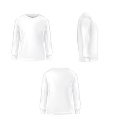 set of of a white t-shirt with vector image vector image