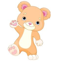 Teddy Bear Walks vector image vector image