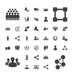 37 social icons vector