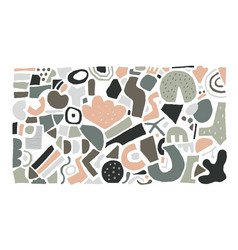 abstract blob shapes doodle modern art geometric vector image