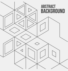 abstract boxes background modern technology vector image