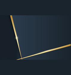 abstract luxury gold and dark blue background vector image