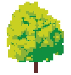 Abstract tree - pixel tree vector