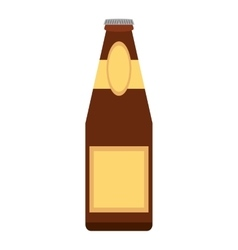 Alcohol bottle pouring liquid beverage dot line vector