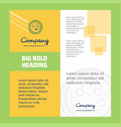 Bacteria on plate company brochure title page vector