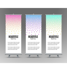 Banner Stand Design Template with Abstract vector