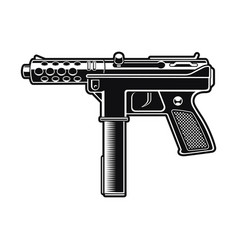 black and white an automatic pistol vector image