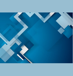 blue abstract geometric background vector image