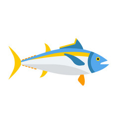 Blue tuna fish icon vector