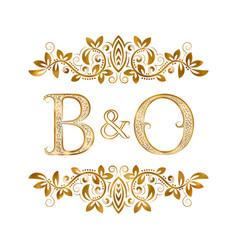 Bo vintage initials logo symbol letters b vector