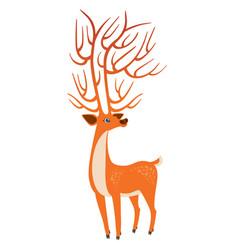 bright orange deer vector image