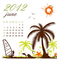 Calendar for 2012 june vector