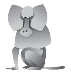 cartoon baboon vector image