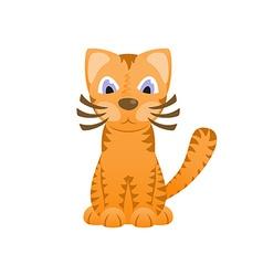 Cartoon cat looks like tiger cute kitten tiger cub vector image