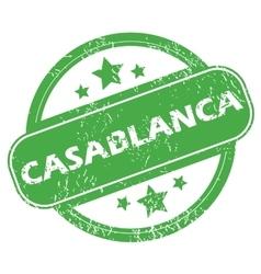 Casablanca green stamp vector