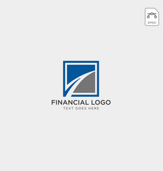 charts financial graphic logo template vector image