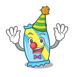 Clown candy mascot cartoon style vector
