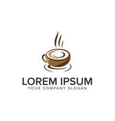 coffee logo design concept template fully editable vector image