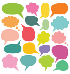 colorful speech and thought bubbles set vector image