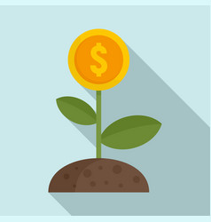 Crowdfunding money flower icon flat style vector
