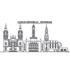 czech republic ostrava line skyline vector image