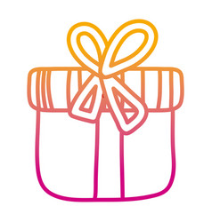 degraded line close present box with ribbon bow vector image