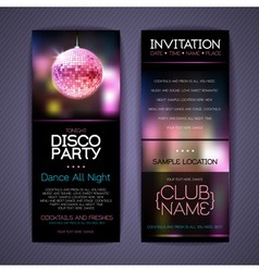 Disco Corporate identity templates vector