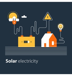 Electricity connection solar electrical supply vector