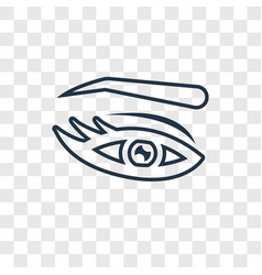 Eyebrow concept linear icon isolated on vector