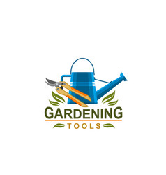 Farmer gardening tools icon vector