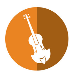 Fiddle classical music instrument shadow vector