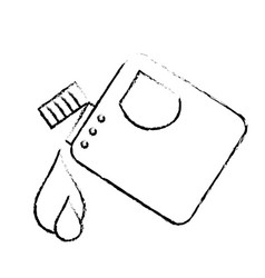 Figure gasoline bottle with drops to car vector