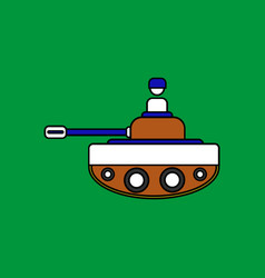 Flat icon design collection soldier on tank vector