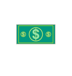 flat of money dollar currency banknote green vector image
