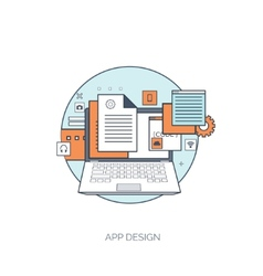 Flat tablet icon Communication concept Social vector image