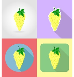 fruits flat icons 08 vector image
