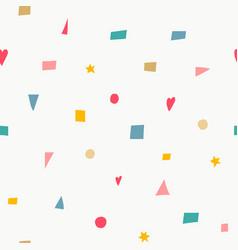 geometric confetti color brigth seamless pattern vector image