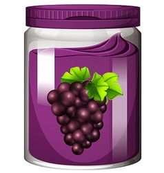 Grape jam in the jar vector