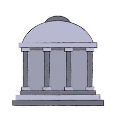 greek building symbol vector image vector image