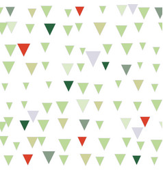 green and red abstract triangle christmas seamless vector image