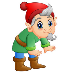green dwarf cartoon posing vector image