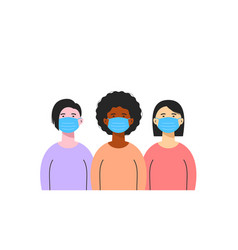 group different ethnic women wearing vector image